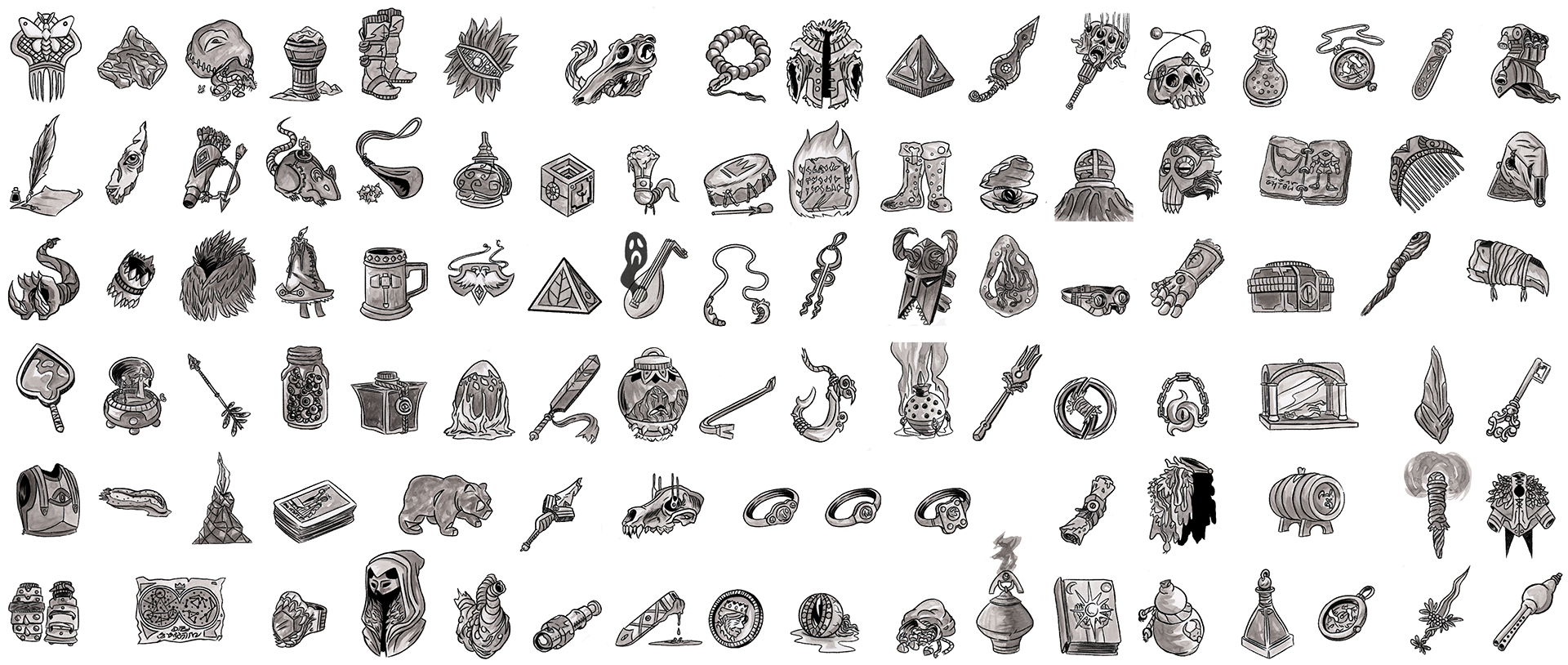 100 magic items spread