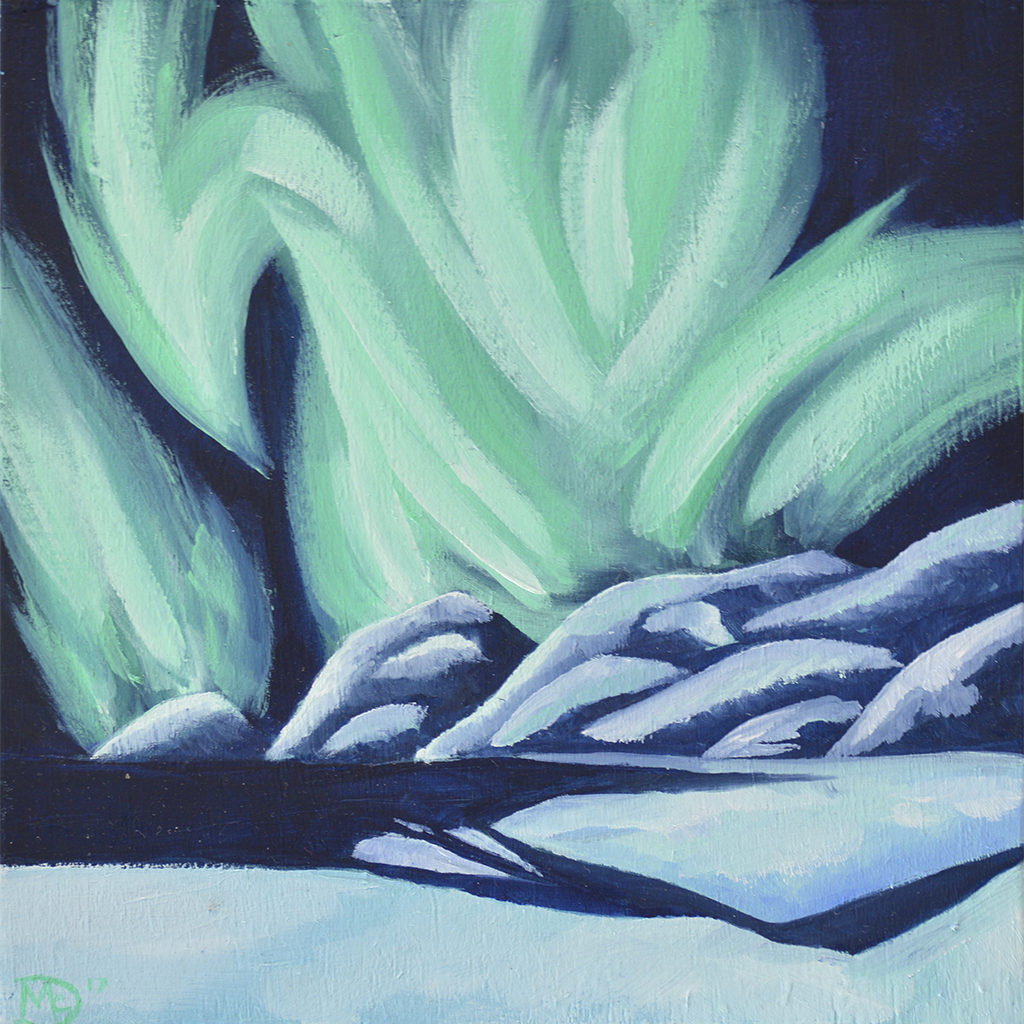 borealis-northern-lights-painting