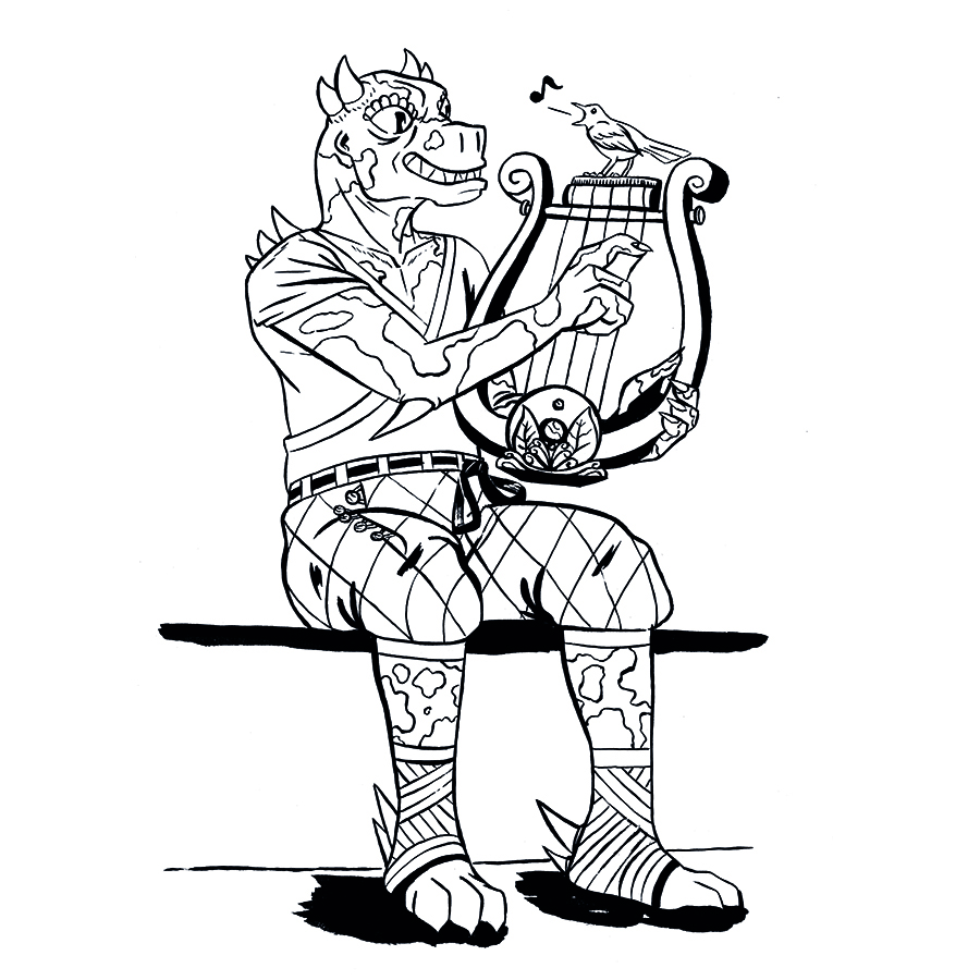 Coleeen, Dragonborn Bard Tabletop Character Commissions