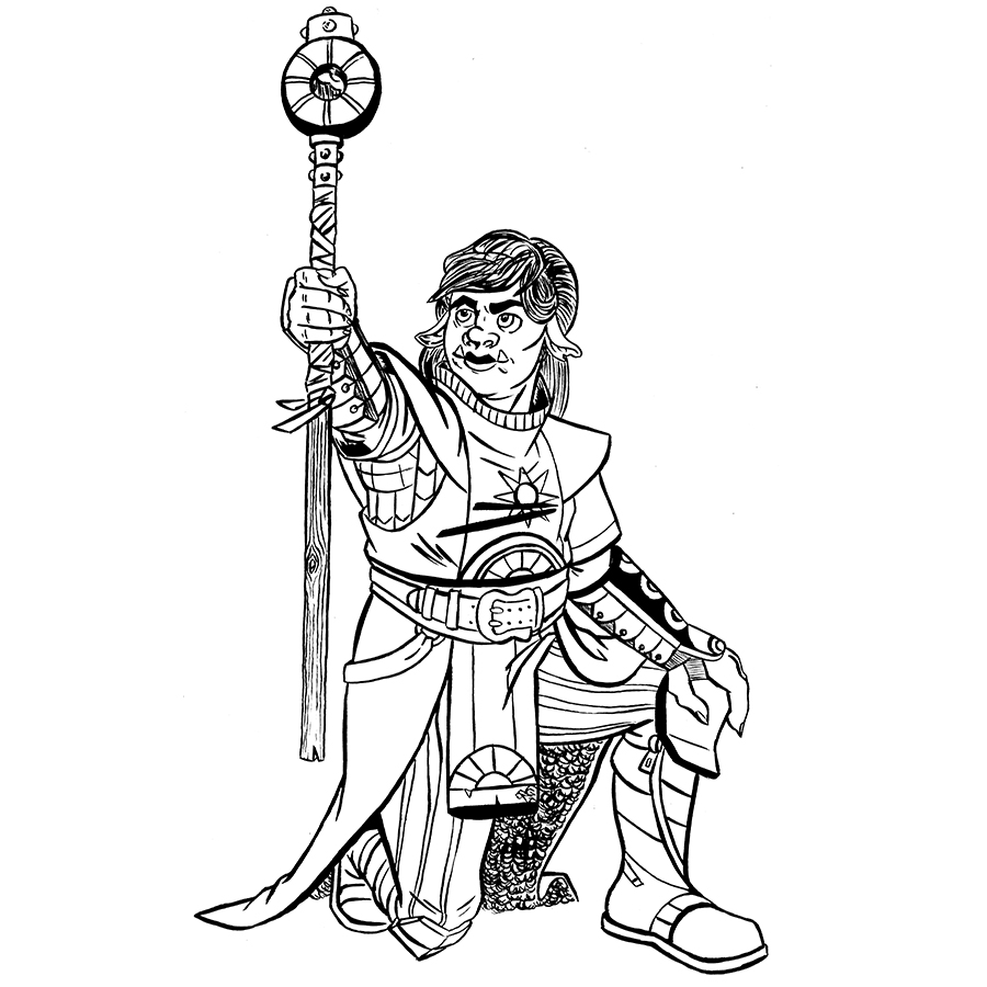 Kirsten Stump, Half-Orc Cleric Tabletop Character Commissions