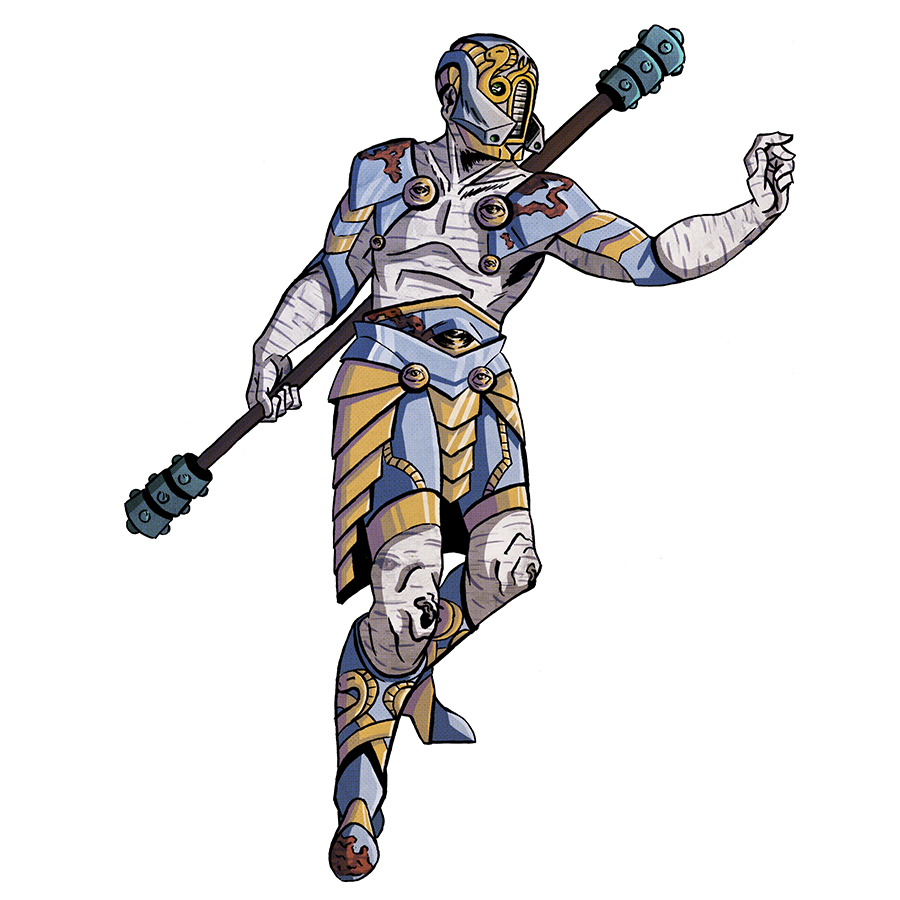 Monad-1, Warforged Monk Tabletop Character Commissions